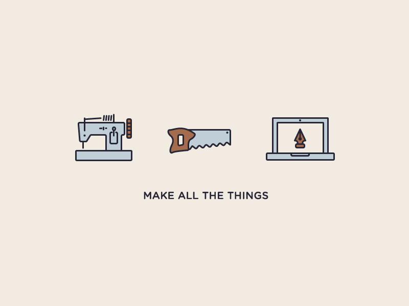 Jack Of All Trades saw hobbies lines making illustrations computering wood working sewing