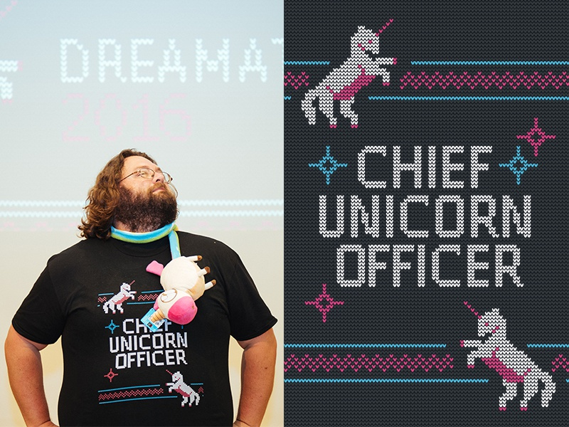 Dreamathon 2016 needlepoint dreams fairy dust pattern tacky sweater magic unicorn tshirt