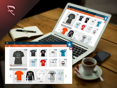 M-Store E-Commerce Flat Design shopping flat design m store responsive desktop ecommerce