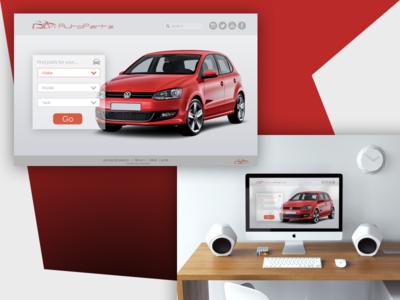 Autopartz cta opacity minimalist red cars auto landing page