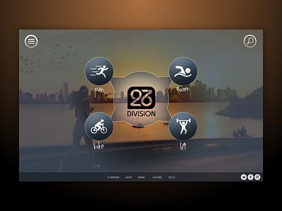 Division 26 - Sporting Goods Store 23 division running sports landing store responsive desktop ecommerce