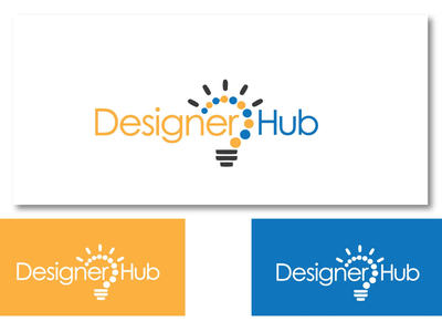 Inspirational Logo Design for Designer Hub illuminate light designer hub brand logo