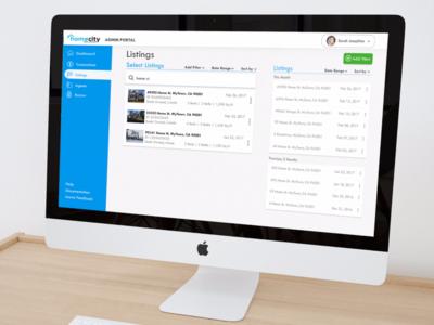 Homecity - Real Estate Listings UI user interface admin ui real estate design material