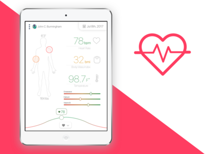 iPad Pro Medical App ui clean app health medical pro ipad