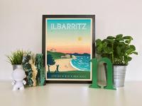 Travel poster ilbarritz portrait   catalogue 1