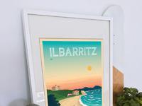 Travel poster ilbarritz portrait   catalogue 1a