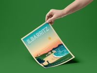 Travel poster ilbarritz portrait   catalogue 5