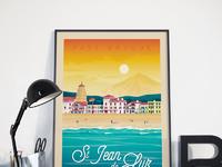 Travel poster st jean de luz portrait   catalogue 1