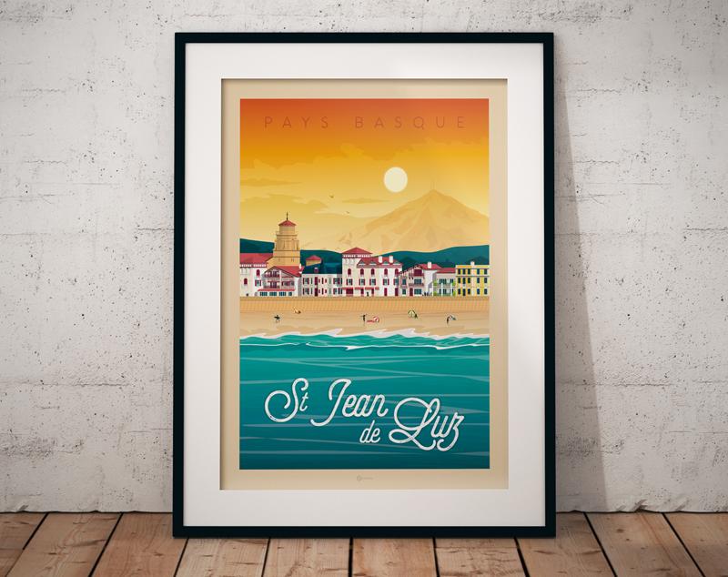 Travel poster st jean de luz portrait   catalogue 7