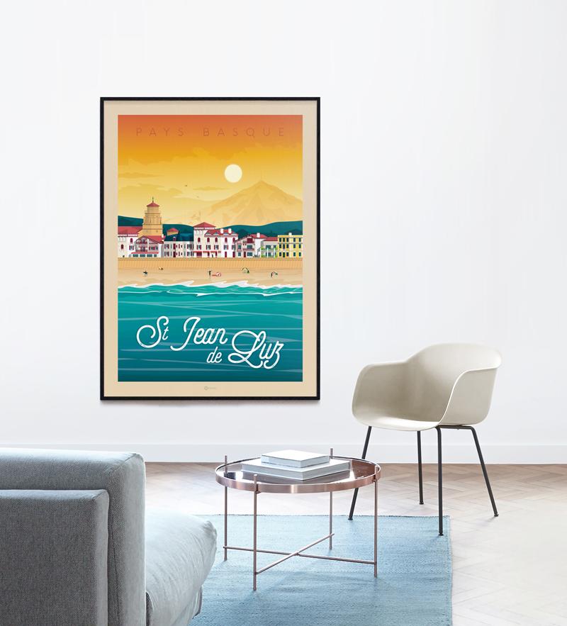 Travel poster st jean de luz portrait   catalogue 1a