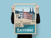 Travel poster bayonne portrait   catalogue 3