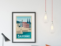 Travel poster bayonne portrait   catalogue 1a