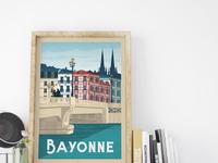 Travel poster bayonne portrait   catalogue 10