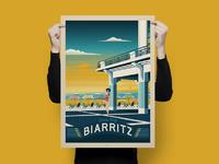Travel poster biarritz portrait   catalogue 3