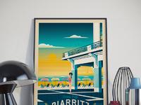 Travel poster biarritz portrait   catalogue 9