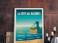 Travel poster cote des basques portrait   catalogue 9