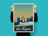 Travel poster los angeles portrait   catalogue 3