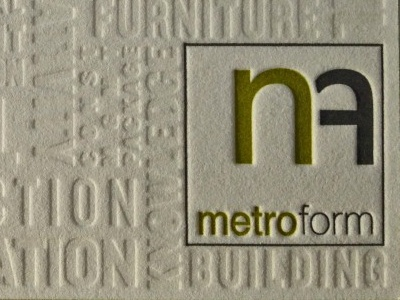 Metroform Business Card
