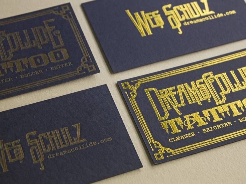 Letterpress vs. Foil foil letterpress dolcepress gold foil gold ink dreams collide