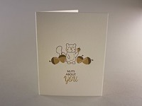 Nuts about you letterpress greeting card