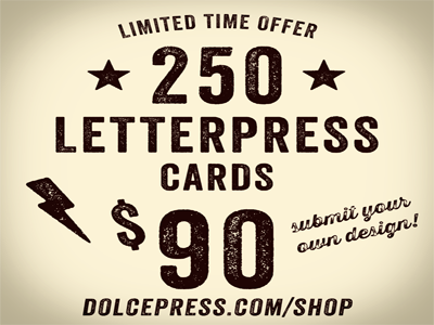KICKASS LETTERPRESS BUSINESS CARD SALE! letterpress business card business card sale dolcepress