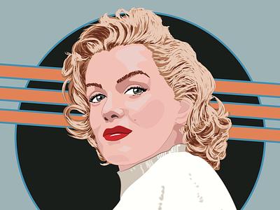 Marilyn Monroe vintage art vector fan art portrait monroe marilyn