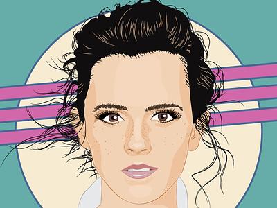 Emma Watson illustrator belle actress art vector portrait watson emma