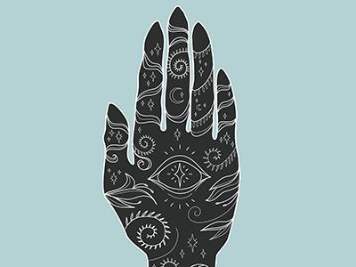 cursebreaker   hand drawn style vector illustration fantasy mystical hand vector brush hand drawn illustration