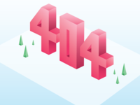 Isometric Lettering | 404 Error Illustration
