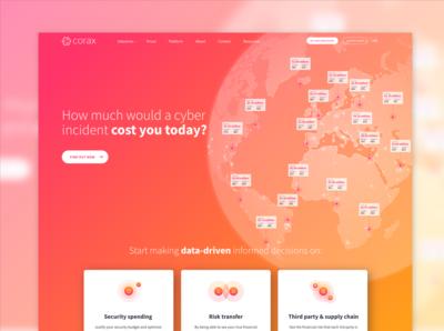 Corax — Website homepage