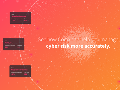 Corax — Database Visualization insurance risk cyber security cybersecurity cyber big data technology data viz data visualization database dataviz data branding gradient vector