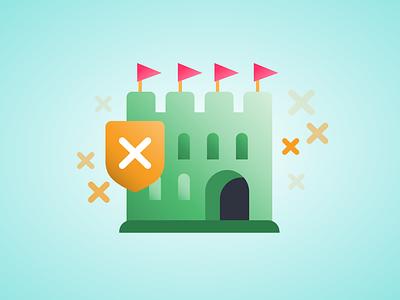 Product Illustration — Storm the Castle product branding product illustration product app icon playful design branding gradient colorful vector illustration