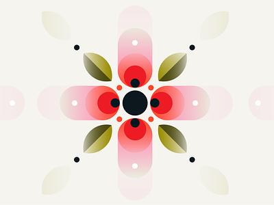 Poppy Maybe | Vector Illustration colorful illustration logo branding nature logo flower logo gradient vector nature floral geometric flower poppy