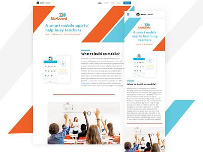 Kickboard children mobile design design ui mobile app education