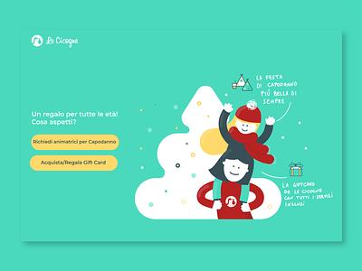 Le Cicogne Christmas home page icon texture graphic  design uiux design tree christmas concept babysitter illustration webdesign uiux