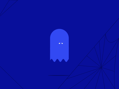 Blue monday , sad ghost creepy friends alone spiders gif loop illustration flat creative motion graphic character animation monday blue sad