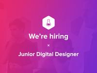 We're hiring a Junior Digital Designer