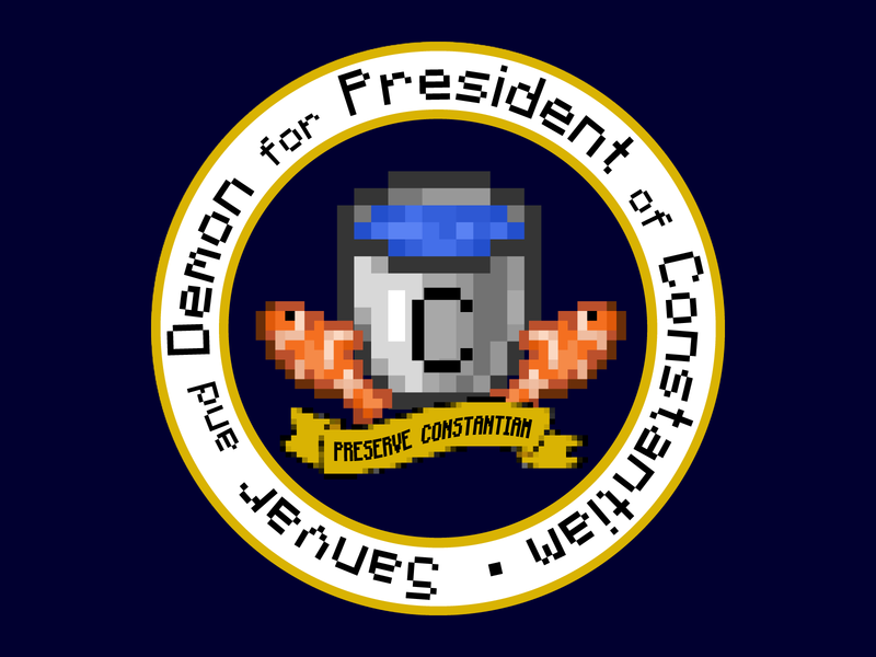 Presidential Seal for Constantiam.net candidate minecraft presidential seal