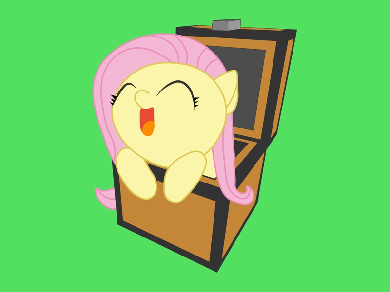 Fultershie on Top my little pony minecraft brony fluttershy fanart
