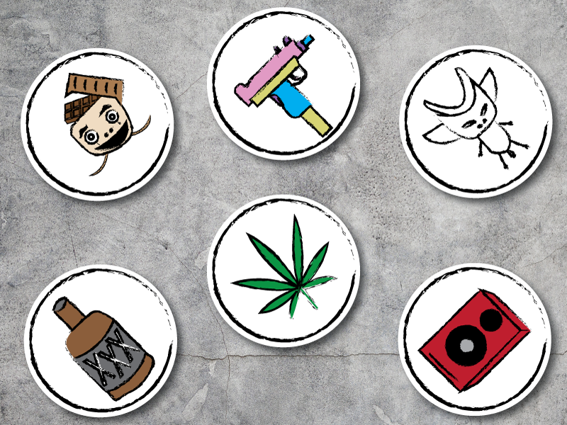Die Antwoord Themed Stickers stickers