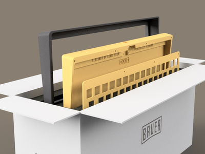 Bauer | Package Design 3d design fusion360 auto cad product design product development branding marketing industrial design design mechanical keyboard keyboard render package design