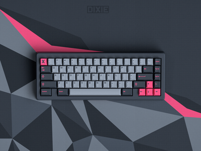 GMK 8008 on Bauer custom mechanical keyboard industrial design abstract pink design autocad keyboards keyboard