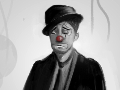 Tears Of A Clown tears of a clown black and white concept art