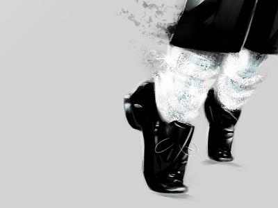 MJ Tip Toe michael jackson tip toe black and white