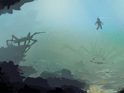 Control chaos - Underwater Scene concept art icepole-dot-de underwater scene speed paint