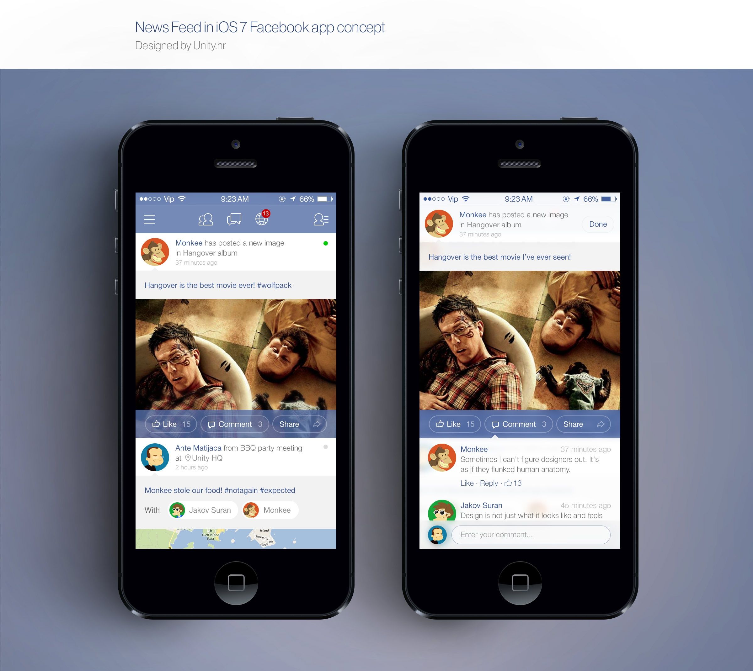 Feed facebook ios7 unity full