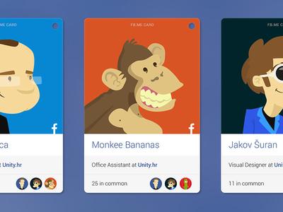 Facebook Contact Cards