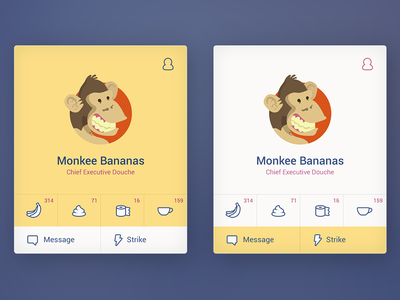 Profile card ui kit psd free template component profile