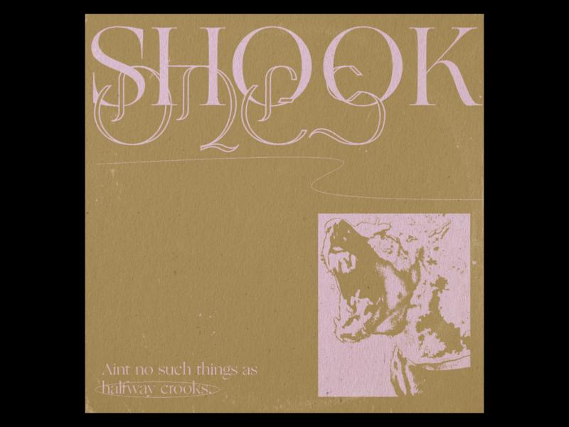 Shook Ones textures cardboard cover design cover art album artwork album art album