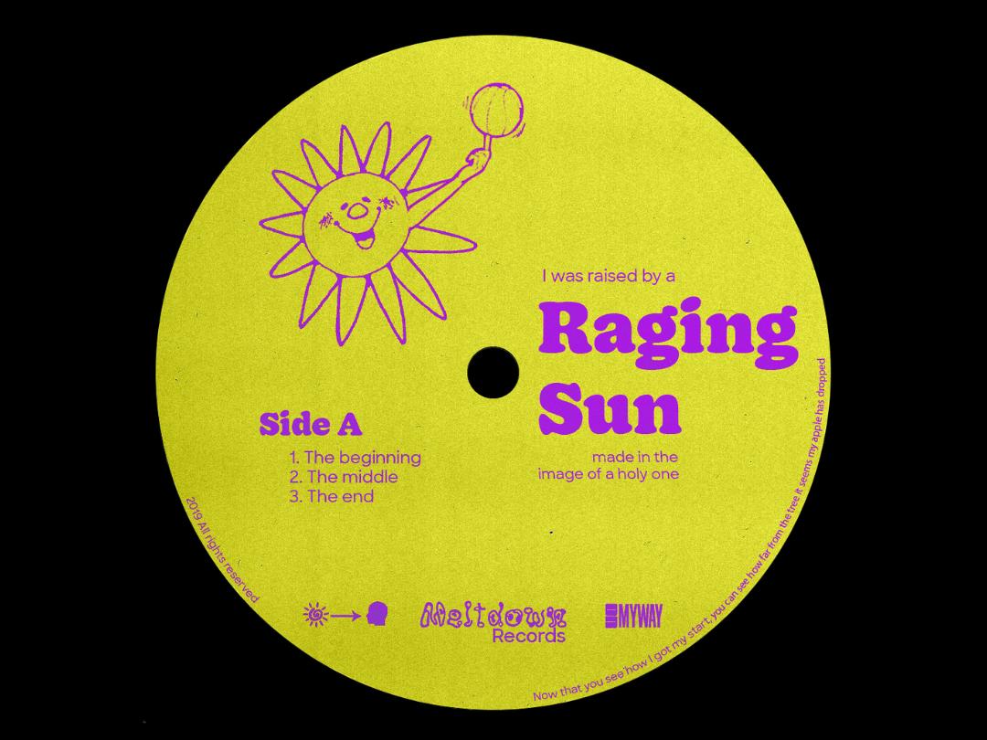 Raging Sun cd texture cover design cover art album cover album art album